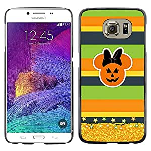 LECELL--Funda protectora / Cubierta / Piel For Samsung Galaxy S6 SM-G920 -- Gold Glitter Fall Pumpkin --