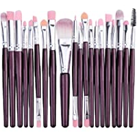 STELLAIRE CHERN Essential Makeup Brush Set 20 PCS Professional Make up Brush Set Synthetic Foundation Blending Concealer Powder Cream Cosmetics Makeup Brushes Kit - Purple