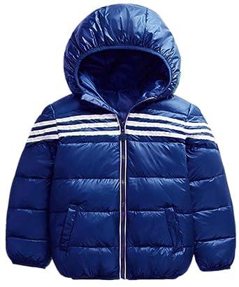 17c023a5d6022 YOGLY Enfant Fille Manteau Ultra Légère Doudoune à Capuche Courte Veste  Compressible Blouson en Duvet vêtement