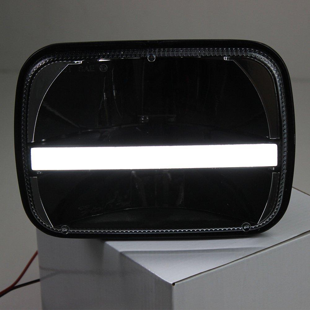 2 Pcs 5X7 7X6 Inch Rectangular Led Headlights Beam Hi//Lo Headlamp with DRL Turn Signal for Jeep Wrangler YJ Cherokee XJ Trucks 4x4 Offroad H6054