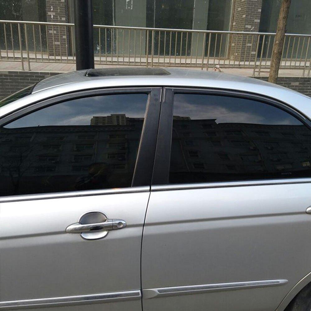 HOHOFILM 19.6X78.7 Dark Black Window Tinting Kits Car Side Window Sunshade Solar Film Self-Adhesive Block Sun Heat Control
