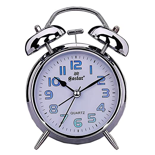 Amazon.com: Foxs Metal Alarm Clock Mute 4 Inch Twin Bell ...