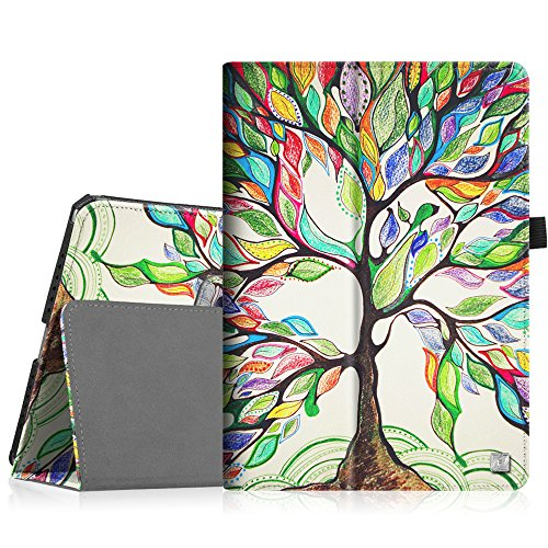Fintie iPad Pro 9.7 Case, Premium Vegan Leather Folio [Slim Fit] Standing Protective Smart Cover with Auto Sleep / Wake Feature for Apple iPad Pro 9.7-inch 2016 Model Tablet, Love Tree