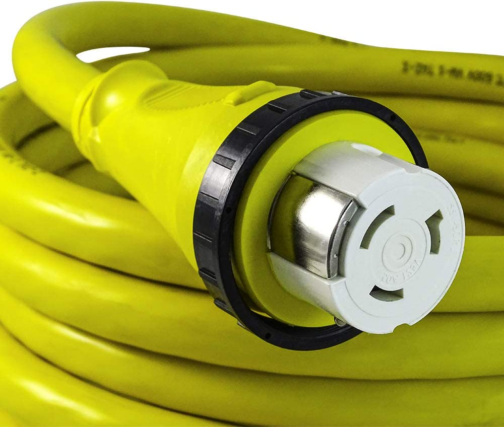 Marvine Cable Shore Power Extension Cord 50Amp Male SS1-50P to 50Amp Female SS1-50R 50Ft: Home Improvement