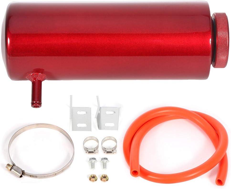 LSAILON Billet Aluminium Racing 800ml Engine Radiator Coolant Overflow Tank Red