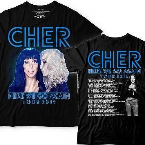 50e4c189 Amazon.com: Cher Pop Queen 2019 Tour-Here-We-Go Pop Music Fan Customized T- Shirt Hoodie/Long Sleeve/Tank Top/Sweatshirt: Handmade