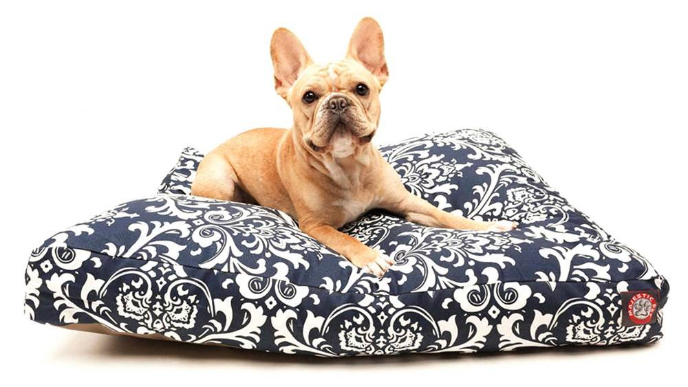 Navy bluee French Quarter Rectangular Pet Bed (Small 36 in. L x 29 in. W x 4 in. H (7 lbs.))