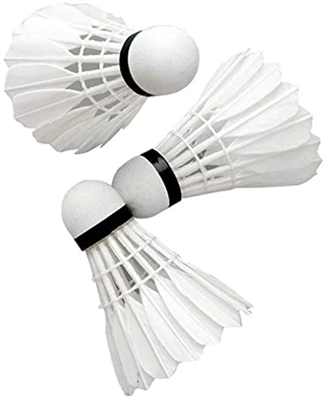 Victor Feather Shuttle Cock | Pack of 10 | White Color | Shuttlecocks