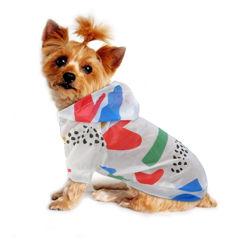 BBEART Dog Raincoats Small Dog Skin Clothes Four-Legged Pet Raincoat Rain Jacket Jumpsuit Rain Poncho Coat Windproof Sun Protection Rainproof Clothes for Small Dogs Puppy Cat