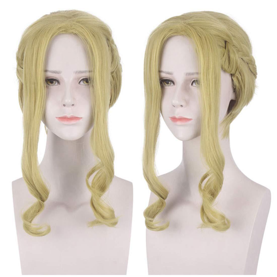 JoneTing Black Cosplay Synthetic Short Straight Wigs Hair for Men