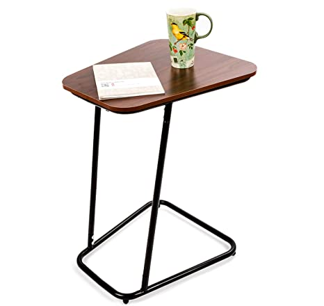 Amazoncom Barleyhome Side Sofa Table Tray Table End Table Snack