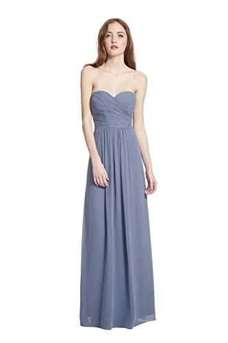Samantha Paige Strapless Ruched A-line Floor Length Chiffon Formal Dress