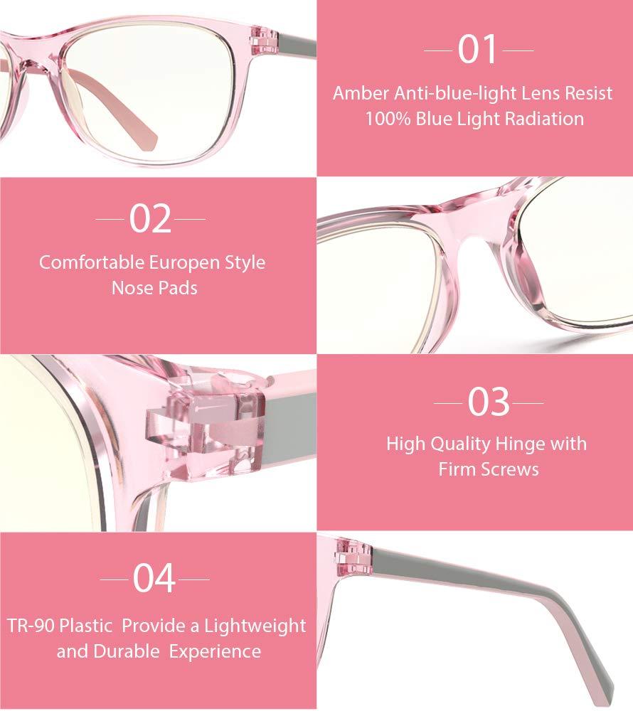 Avoalre® Gafas Gaming Anti Luz Azul - Filtro Luz Azul > 95% - Evita la Fatiga Ocular Anti UV Montura Ligera para PC, Móvil, TV, Tablet, ...