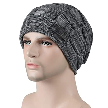 dab401b138691 Herepai Winter Knit Wool Warm Hat Thick Slouchy Beanie Skully Cap for Men  and Womens (