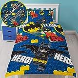 Lego Batman Movie Hero Single Duvet Cover Set - Rotary Design UK duvet cover size 53in x 78in