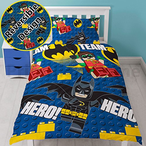 Lego Batman Movie Hero Single Duvet Cover Set - Rotary Design UK duvet cover size 53in x 78in
