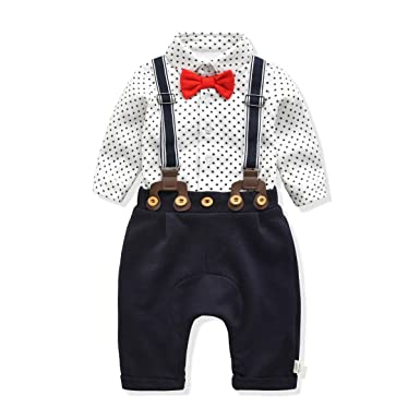 939e9d5bc Amazon.com: FERENYI Baby Boy's Clothes Baby's Christening Set Baby Boys  Bowtie Gentleman Clothes: Clothing