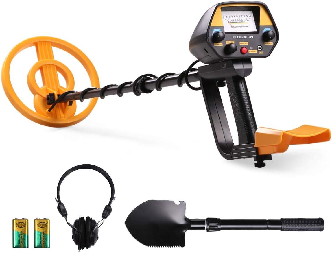 FLOUREON Detector de Metales, Alta Sensibilidad Ajustable, 3 Modos ...
