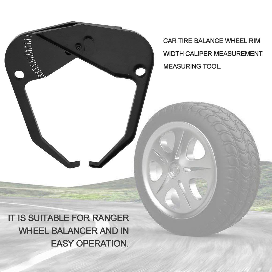 Funnyrunstore Balance Instrument Ranger Rueda equilibradora de neumáticos Rim Gauge Caliper Measurement Tool Accesorios de máquina de Equilibrio de ...