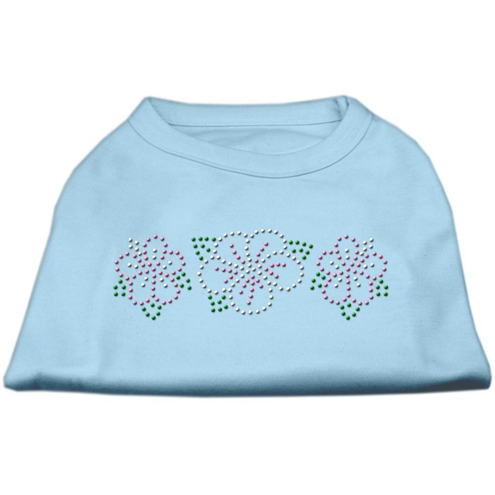 Baby bluee XSmallMirage Tropical Flower Rhinestone Pet Shirt, Small, Aqua