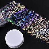 Women's Nail Foil Sticker, Iuhan Major Design Nail Art Foil Stickers Transfer Decal Tips Manicure DIY (B)