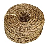 Twisted Manila Rope Hemp Rope (1/4 in x 100 ft) - SGT KNOTS - Tan Brown Natural Rope - Thick Heavy Duty Rustic Outdoor Cordage for Craft, Dock, Decorative Landscaping, Climbing, Tree Hanging Swing