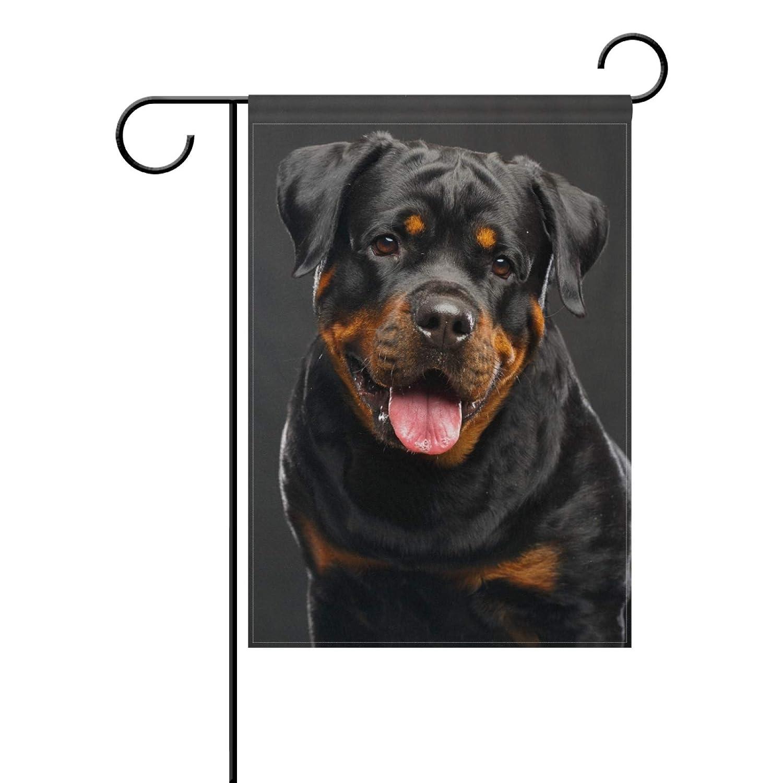 AQQA Rottweiler Dog Garden Flag Banner 12 x 18 Inch Decorative Garden Flag for Outdoor Lawn and Garden Home Décor Double-Sided