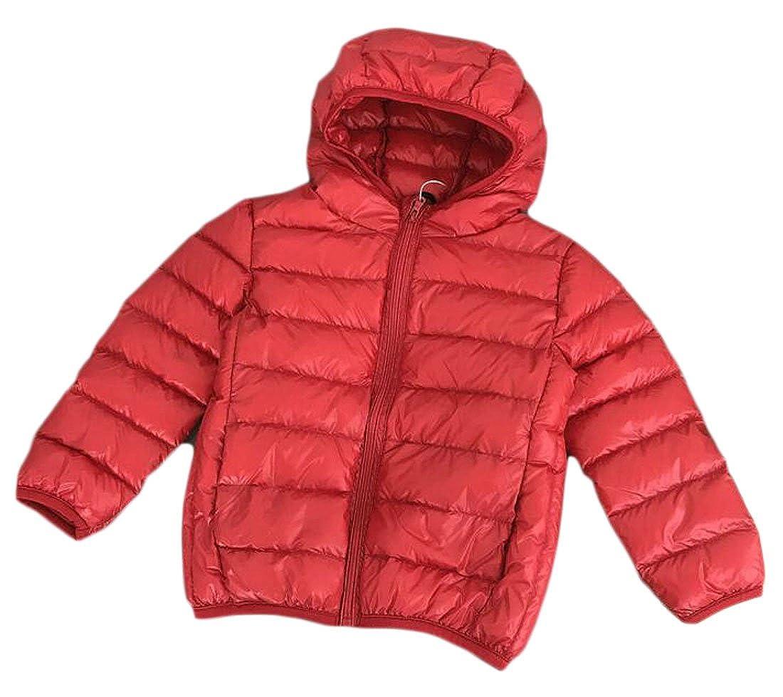 Sweatwater Boys Winter Down Warm Zip-Front Packable Hooded Jackets Coats