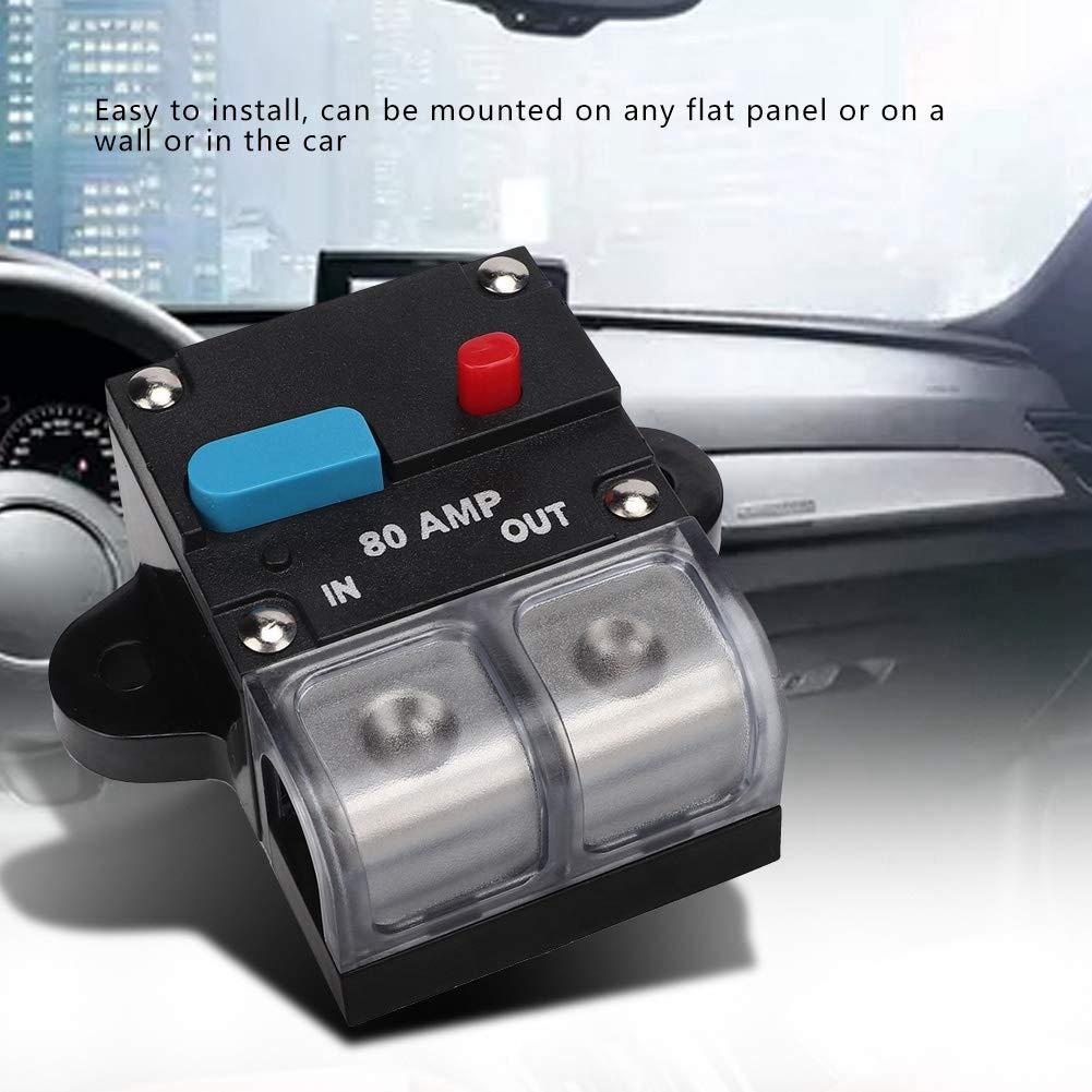 300A KIMISS 2pcs 80A//200A Interruptor de circuito reiniciable para autom/óvil Fusible de recuperaci/ón autom/ática Bot/ón de reinicio manual
