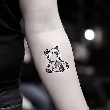 Tatuaje Temporal de Oso de peluche (2 Piezas) - www.ohmytat.com ...