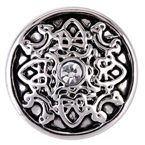 Morella ® pour petit click-button lot de 3 boutons pression pour bijou femme à motif trio de 12 mm de diamètre