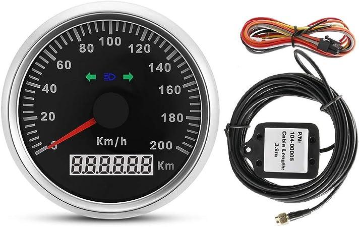 Vobor Gps Tachometer 85mm 200km H 12v 24v Auto Lkw Motorrad Gps Tachometer Motorrad Gps Tachometer Kilometerzähler Messgerät Mit Hintergrundbeleuchtung Auto
