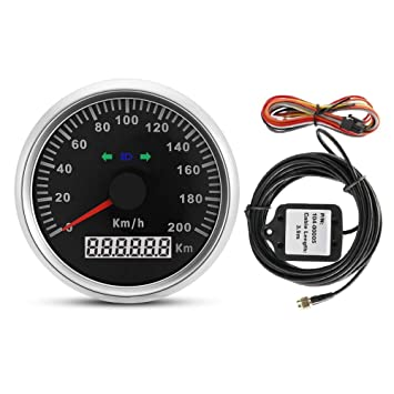Universal GPS Tachometer Digital LCD Geschwindigkeitsmesser Kilometerz/ähler Kurse mit GPS-Antenne 85 mm