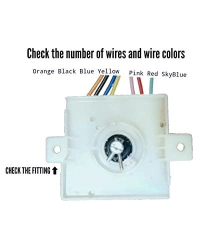 doctorspare washing machine timer, 7 wire, compatible with whirlpool (match  & buy): amazon in: home & kitchen