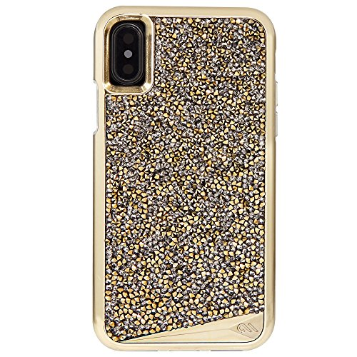 Case-Mate iPhone X Case - Brilliance - 800+ Genuine Crystals - Protective Design for Apple iPhone 10 - Champagne ()