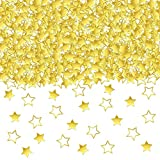 Gold Star Confetti Table Decorations - 1.7 Oz Golden Star Metallic Foil Sequin Confetti for Party | Wedding Decorations | Twinkle Twinkle Little Star Decorations | Birthday Party | Arts and Crafting
