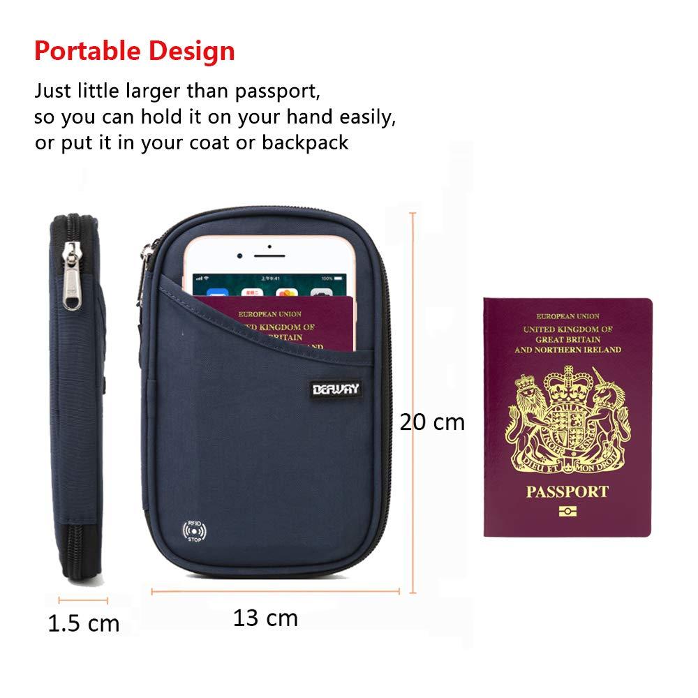 defway Portefeuille Passeport Bleu - Passport Holder Navy Blue Bleu Marine