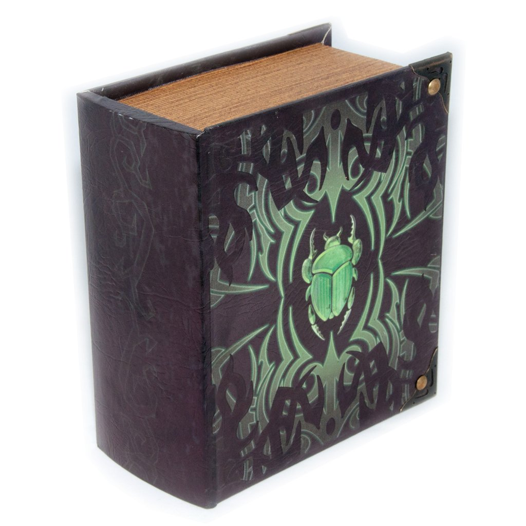 Grimoire Pro Tour, Deathrite | Wooden Spellbook Style Fabric Lined Portable Deck Box for MTG, Yugioh, and Other TCG | 350+ Card Capacity Wizardry Foundry