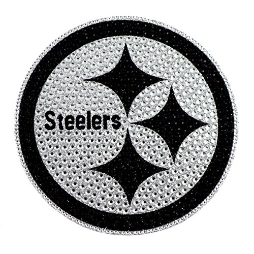 NFL Pittsburgh Steelers Bling Emblem, 6.25-inches