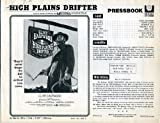 High Plains Drifter Original 1973 Vintage Pressbook with Clint Eastwood, Verna Bloom, Directed by Eastwood