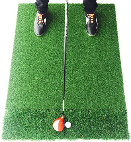 Motivo Golf StrikeDown Dual-Turf Pro Golf Hitting Mat 3 x 4 Feet Free Two-Day Delivery