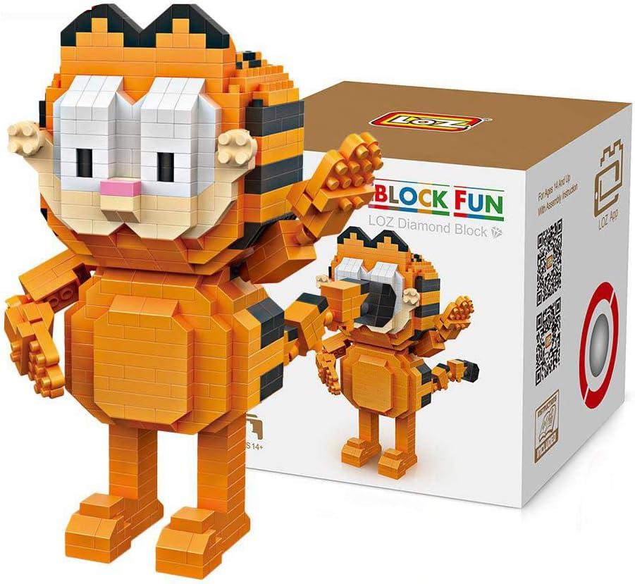 Outletdelocio. LOZ 9758. Kit de construccion miniaturizada. Garfield. 630 Piezas: Amazon.es: Juguetes y juegos