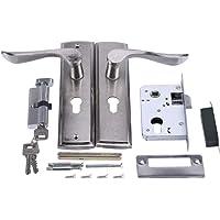 MAGT Professionele deurklink - duurzaam deurklink slot, cilinder voorhendel vergrendeling, huisbeveiliging, met sleutels…