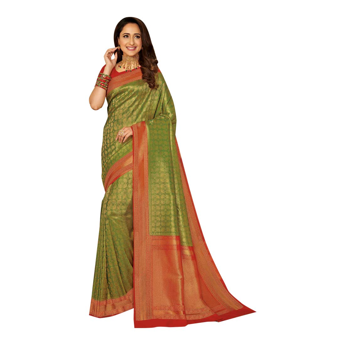 Latest Indian Traditional Festive Party wear Silk Sari for Women Saree with Blouse piece Designer collection 7918