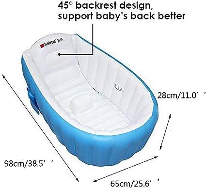 Baignoire gonflable de b/éb/é denfants nouveau-n/és erthome piscine anti-glissante pliable /âg/ée de plus de 0 ans Bleu