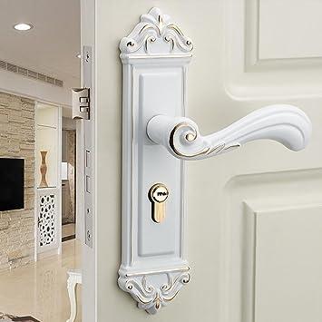 Amazon Daeou Fuji White Interior Door Lock Handle Lock Bedroom