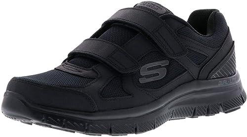 Skechers 58365 ESTELLO Black Nero Scarpe Uomo Memory Foam Strappo
