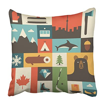 Amazon Emvency Decorative Throw Pillow Covers Cases Canada Flat Amazing Decorative Throw Pillows Canada