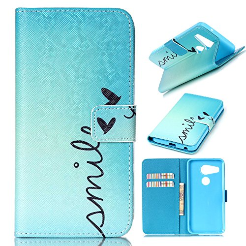XYX Phone Case for Nexus 5X,[Smile][Kickstand][Card Slot] PU Leather Wallet Phone Case for LG Nexus 5X/Google Nexus 5X (2015)