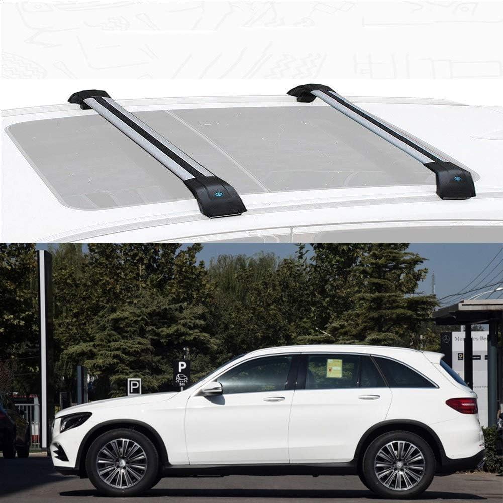 LLDS Misura Personalizzata per GLC Barre Portatutto Portapacchi da Tetto in Alluminio per GLC Size : for Mercedes Benz GLC 2016